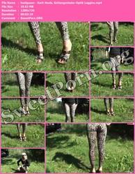 heelqueen heelqueen - Kork Heels, Schlangenleder-Optik Leggins Thumbnail